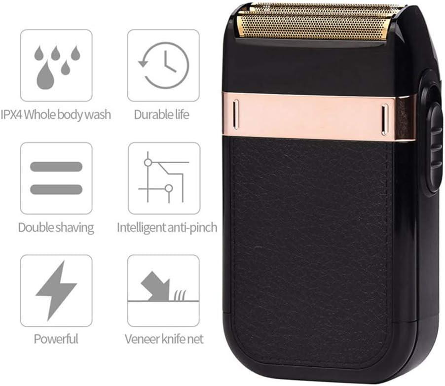 Maquinilla de afeitar para hombres, Maquinilla de afeitar recargable impermeable de bajo nivel de ruido, Recortadora de afeitar Carga USB, Máquina de cabeza optica recargable con lavado de cuerpo