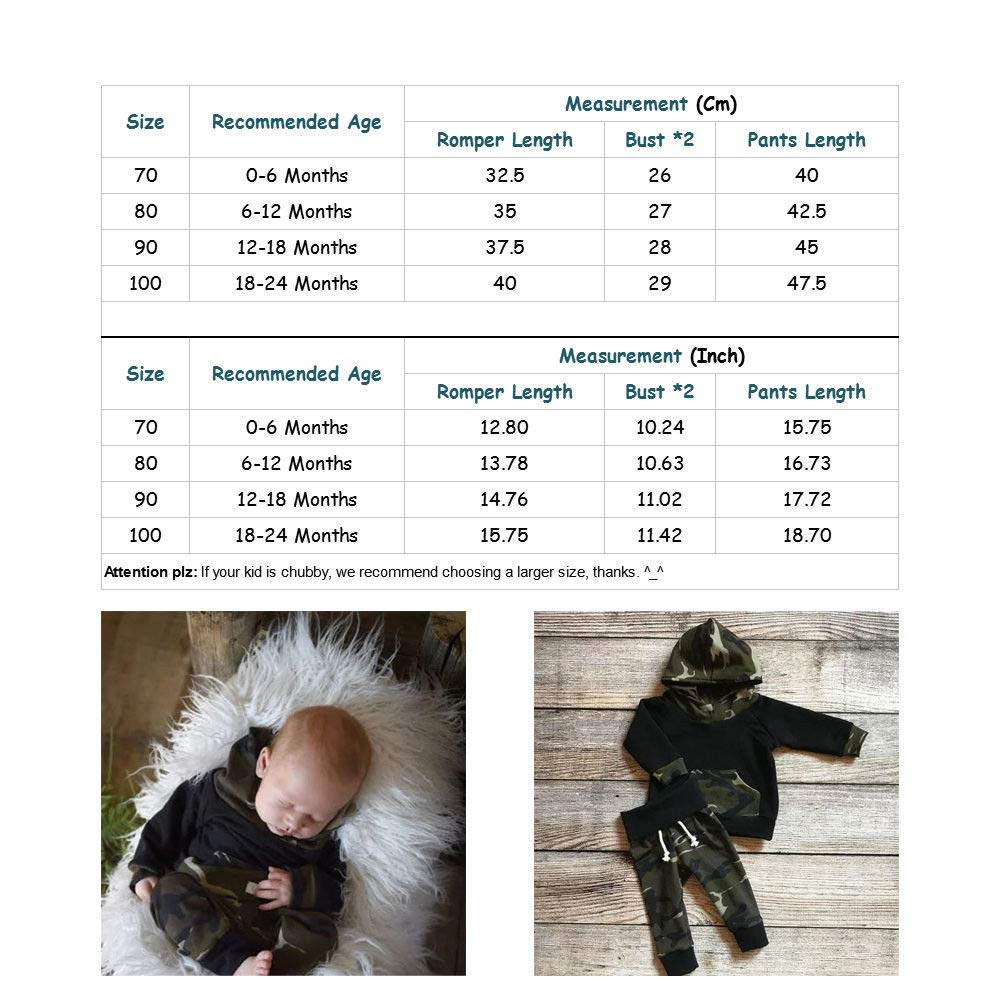 Kubulala Infant Newborn Baby Girl Boy Shirt Top+Pants Trousers 2PCS Outfits Clothes 0-24M