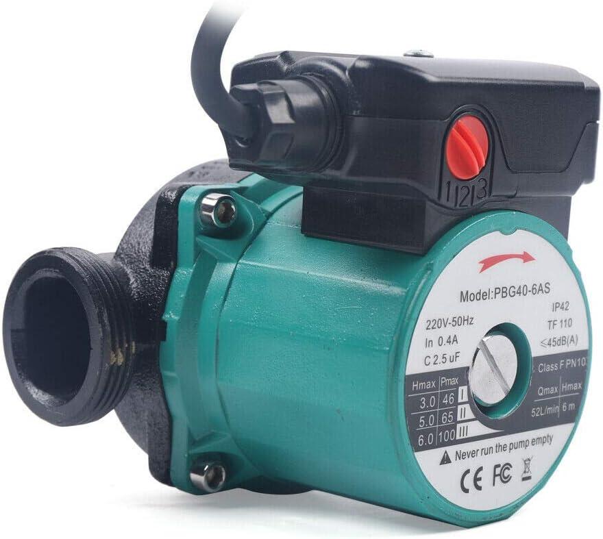 pompe de circulation pour chauffage central Wangkangyi Pompe de circulation 65 l//min 220 V// 50 Hz
