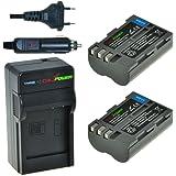ChiliPower Nikon EN-EL3E Kit: 2x Batterie (1800mAh) + Chargeur pour Nikon D90, D700, D300, D80, D70, D50, D200, D300s, D100, D70s