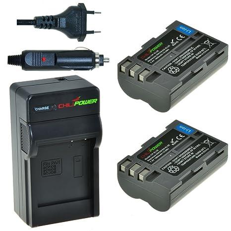 Chili Power EN-EL3e Kit: 2 x Batería + Cargador para Nikon D90, D700, D300, D80, D70, D50, D200, D300s, D100, D70s