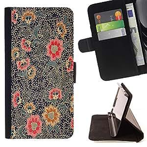Momo Phone Case / Flip Funda de Cuero Case Cover - Pintura Oriental Art Rojo Negro - LG G4c Curve H522Y (G4 MINI), NOT FOR LG G4