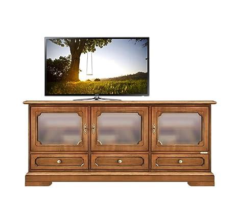 Mobile porta TV credenza da soggiorno, vetrina bassa 3 ante, MDF e ...