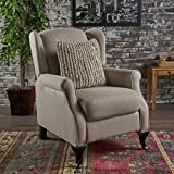 Domingo Traditional Winged Wheat Fabric Recliner Review