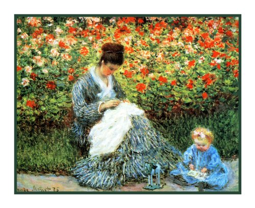 Orenco Originals Camille and Jean in Garden Monet Counted Cross Stitch Pattern