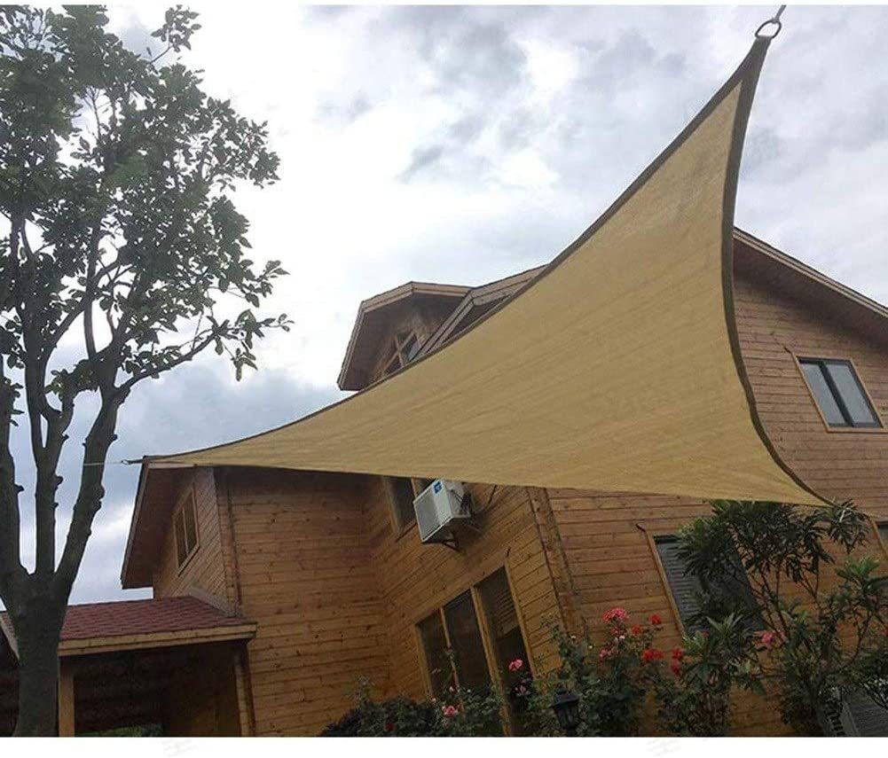 GuoWei Patio Velas de Sombra Triángulo Impermeable Dosel Toldo ...