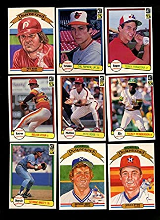 1982 Donruss Baseball Complete 653 Card Set Cal Ripken Jr Rookie Nrmtmt