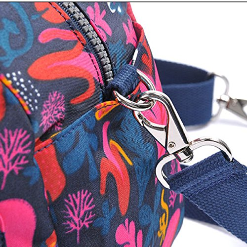 Impresión Mensajero Las Nylon La Bolsos Mujeres Bolsas Bolso Señoras De Impermeables Vintage Del Plegables Ocio Hombro Trabajo B Viaje Totalizador qnaZfT