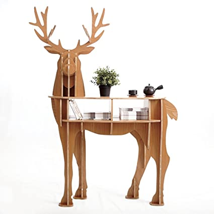 Amazon Com Other Wooden Deer Home Decor Living Room End Tables Self