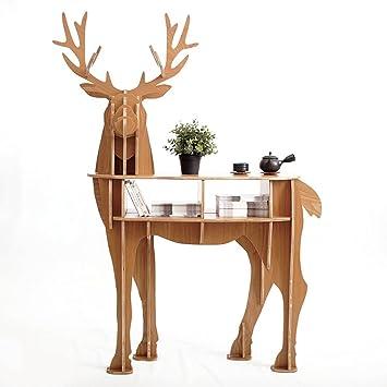 Yunno Cerf En Bois Decoration D Interieur Pour Salon Table Basse Meuble A Monter