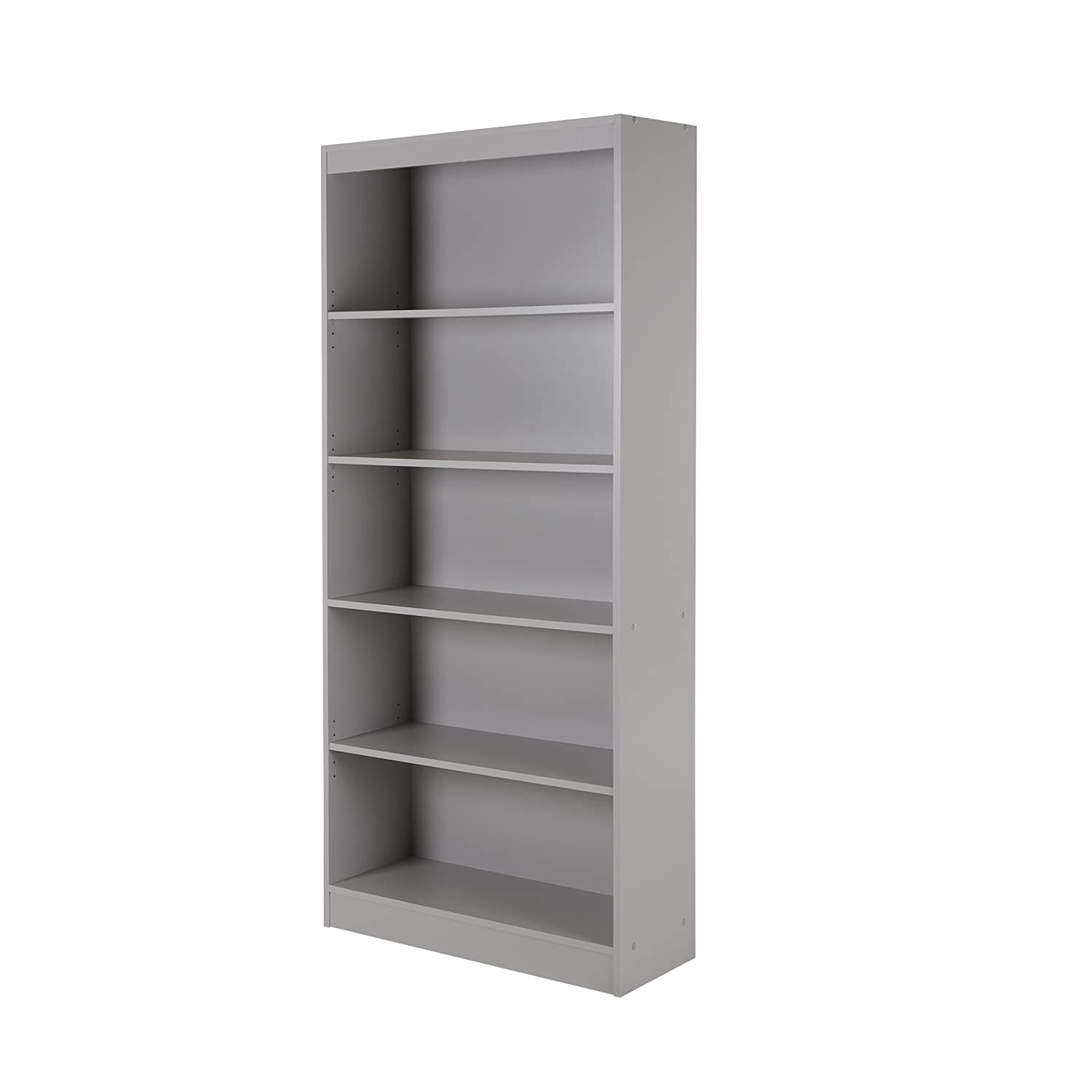 Amazon.com: South Shore Axess 5 Shelf Bookcase, Soft Gray: Kitchen U0026 Dining