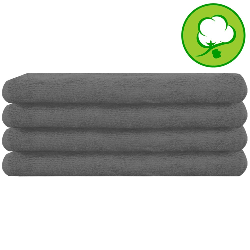 Gray Salon Towel 100% Cotton 16''x27''. Hand Towel - 6 DOZEN (72 Pack) by A&H (Image #2)