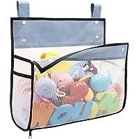 Premium Capacity Bath Toy Organizer, Extra Large Opening Bathroom Toy Holder, Bottom Zipper Bathtub Toy Storage Bag with Quick Drying Mesh 14 x 11 x 6 Inches