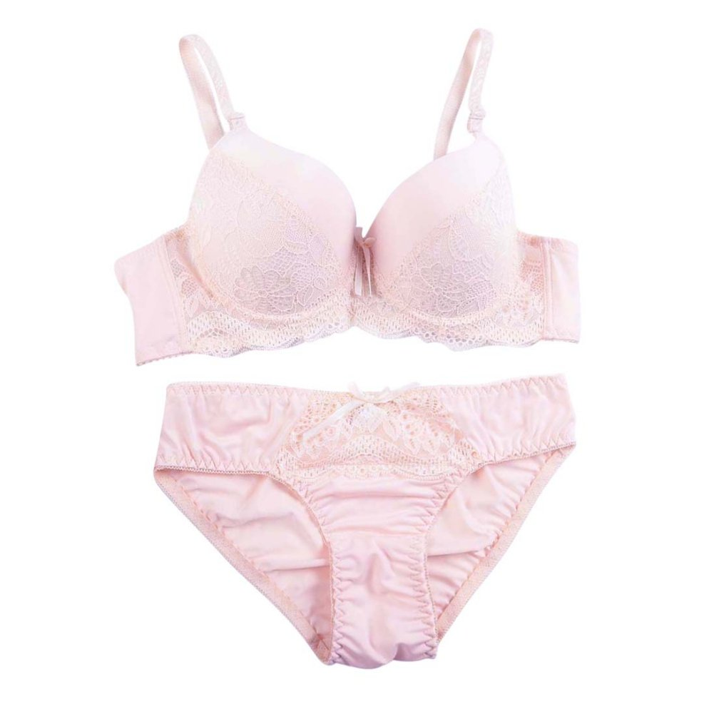 efe2944dc248f Bornbayb Women s Plus Size Push up Underwire Bra and Panty Set Thin Cup Lace  Lingerie Set at Amazon Women s Clothing store
