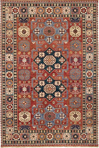 Due Process Stable Trading JIOSHIRRE0N009012 9 x 12 ft. Jinan Shirvan 0548019 Area Rug44; Red & Navy from Due Process Stable Trading