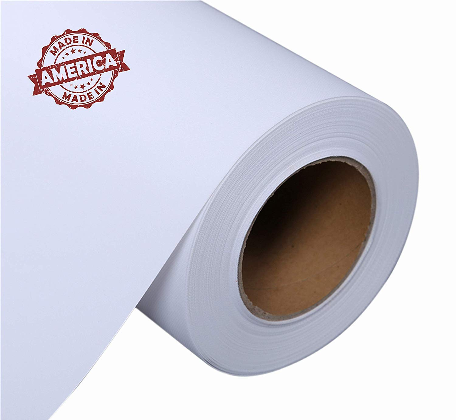 Canvas Roll for Wide Format Inkjet Printer, Polyester Paper Roll for Epson Canon HP Plotter 300gsm, 36'' x 100' (90cm x 30m) by Prixas Print