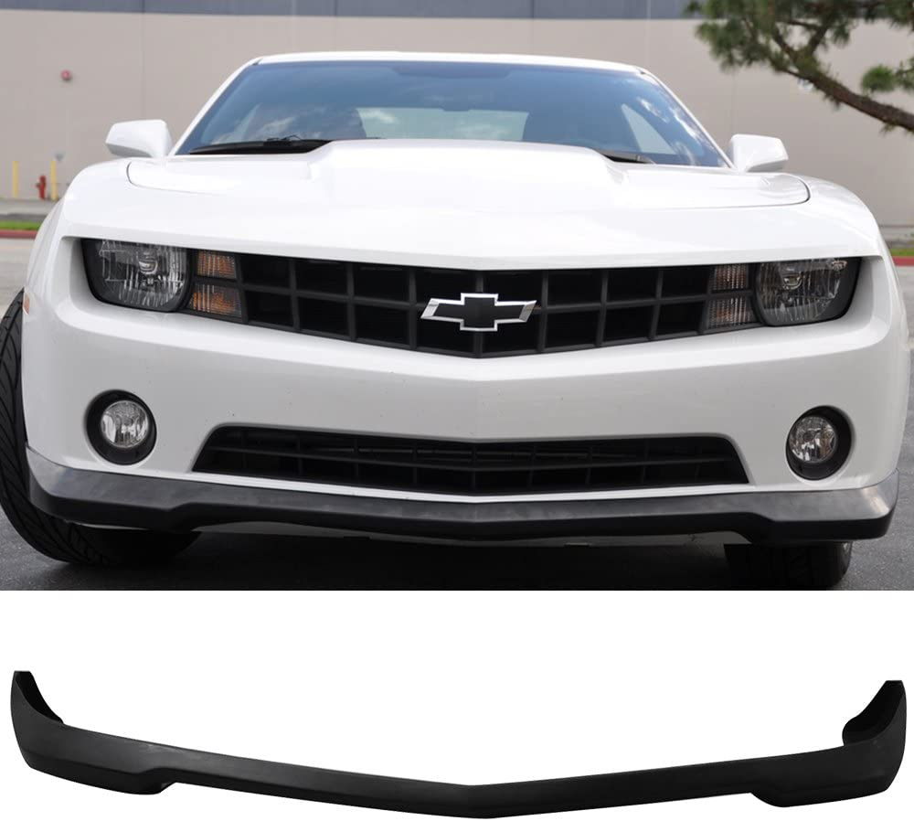 Front Bumper Lip Compatible With 2010-2013 Chevy Camaro ZL1 Style PU Black Front Lip Spoiler Splitter by IKON MOTORSPORTS 2011 2012