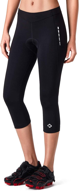 NAVISKIN Pantalons Pantalon de Cyclisme V/élo 3D Padded Cyclisme Shorts Velo 3//4 Collant pour Femme