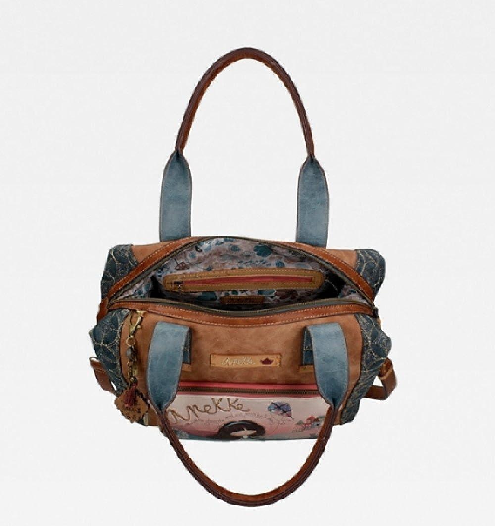 91ece2d592 Anekke Sac à main Bowling Two Handles: Amazon.fr: Vêtements et accessoires