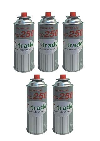 ALTIGASI 5 Unidades - Cartucho Bote de Gas licuado 250 gr Art. kcg250 Ideal Soldador Soplete Estufa O hornillo Bistro Compatible Campingaz Brunner: ...