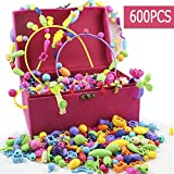 Shuyetong Pop Beads, Arts and Crafts Toys Gifts for Kids Age 4yr-8yr, Jewelry Making Kit for 4, 5, 6, 7 Year...