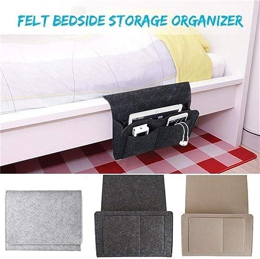 Bedside Storage Caddy Hanging Bag Felt Sofa Organizer Pocket Book Holder Home UK