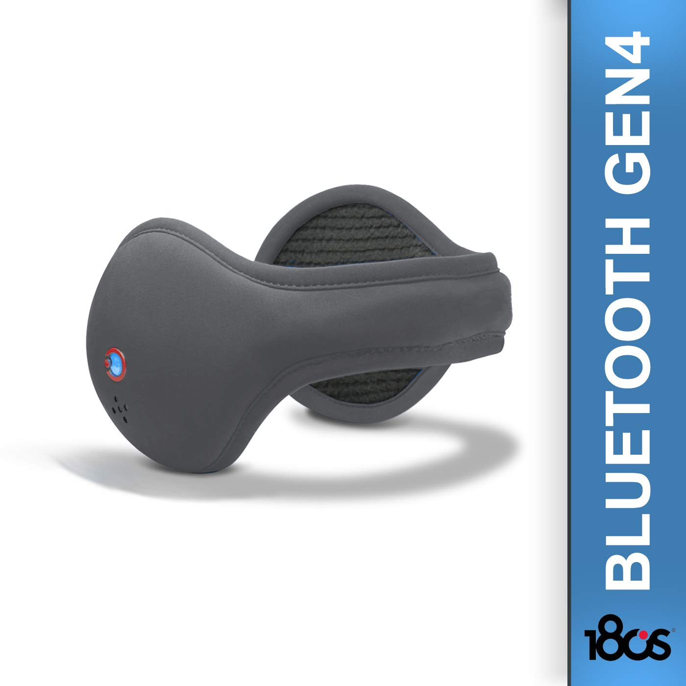 180s Mens Bluetooth HD IV Ear Warmer – Gen4 – Built-in Mic Hi-Definition Speakers – Siri Google Now Activation – Adjustable Size Black Webyshops 21714-001-01