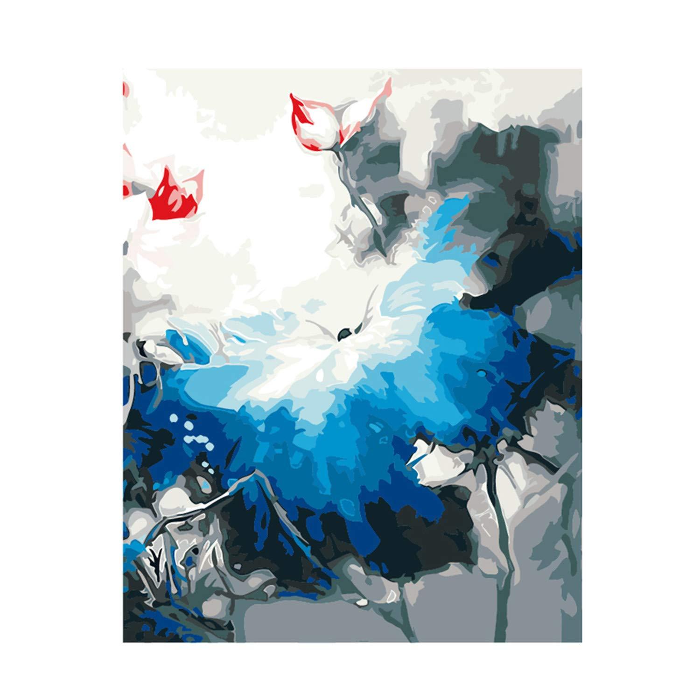 Diy Pintura Por Números Para Principiantes Sin Loto En En Loto Plena Floración Paisaje Lienzo Haga Su Propia Pintura Para La Decoración Del Hogar Arte c8d966