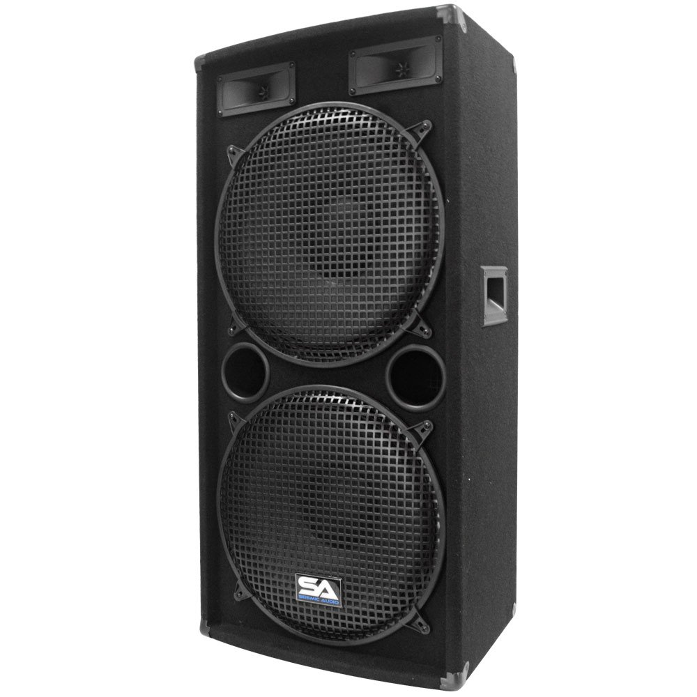 Seismic Audio - Pair of Dual 15'' PA DJ SPEAKERS 1000 Watts PRO AUDIO - Band, Bar, Wedding, Church by Seismic Audio (Image #3)