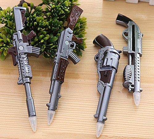 Glanzzeit Cool Replica Gun Ballpoint Pens with Magnets Novelty Ball Pens Set of 4 Pcs (4) (Bolt Action Bullet Pen)