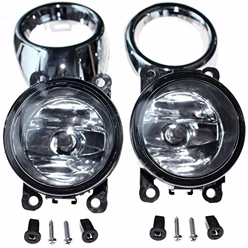 Jahyshow Pair Left & Right Clear Lens Driving Fog Lights Bumper Lamps Bulbs For Ford Focus S SE SEL Titanium Trend 2012 2013 2014 2.0 - Pair Clear Lens