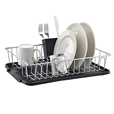 best commercial steel rust proof kitchen in sink side draining dish drying rack chrome dish