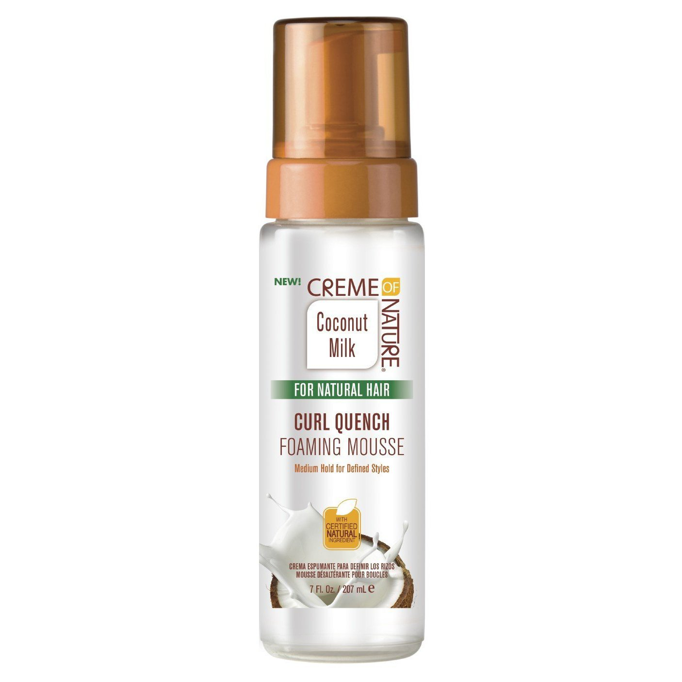 Creme Of Nature Coconut Milk Curl Quench Foaming Mousse 7 Ounce (207ml) Beautyge Brands USA
