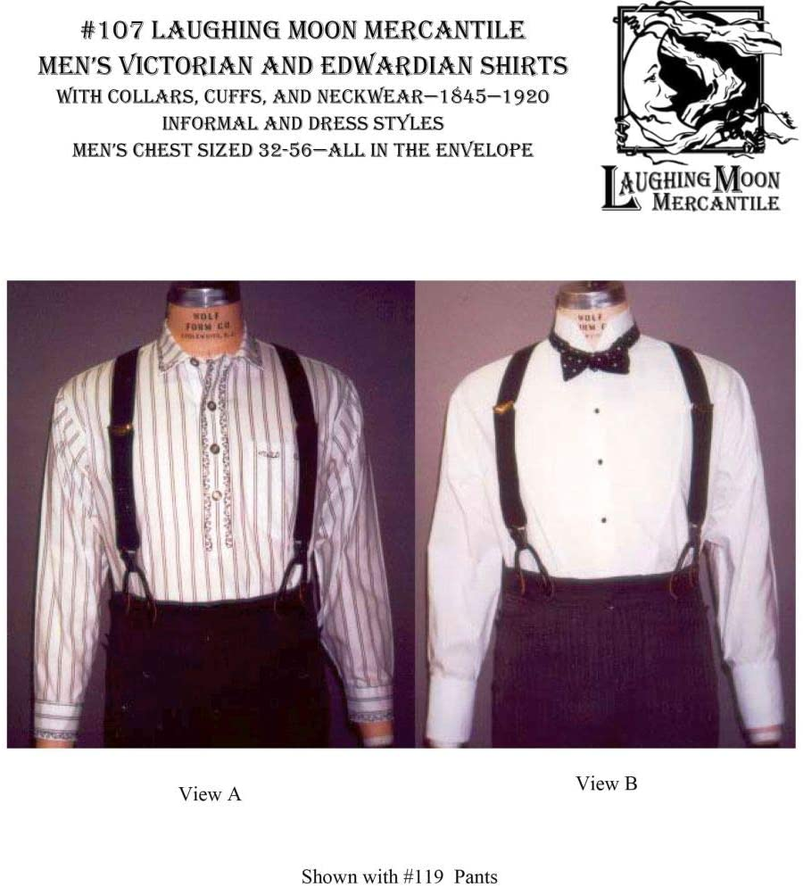 Edwardian Sewing Patterns- Dresses, Skirts, Blouses, Costumes Mens Shirt  (1845-1920) $13.95 AT vintagedancer.com