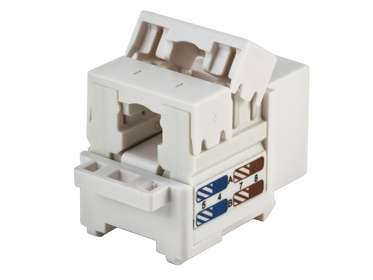 Monoprice Cat6 Punch Down Keystone Jack 105384 Wiring Diagram Computers Accessories