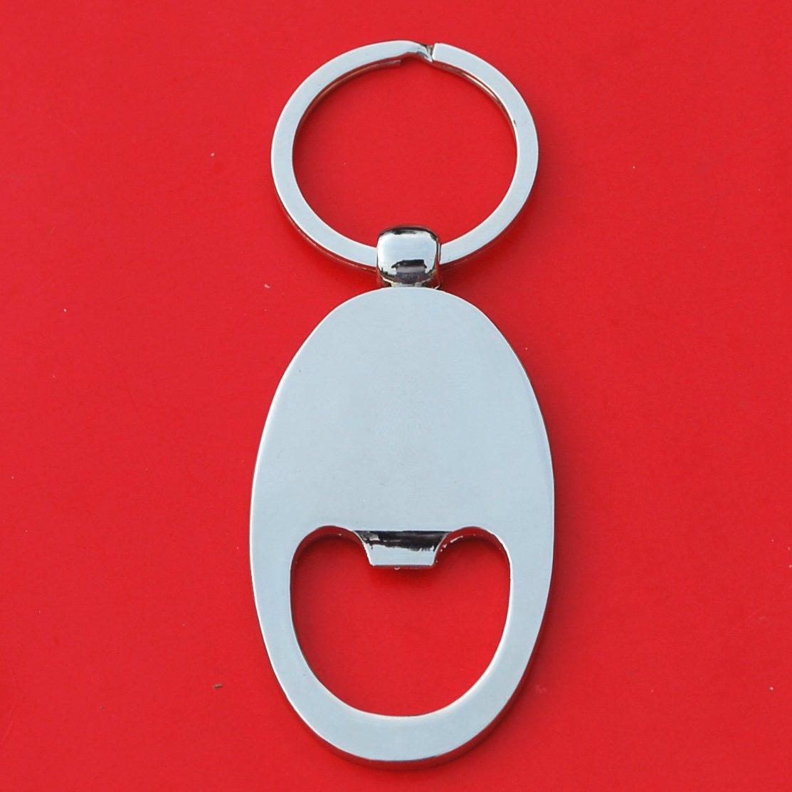 Irish Ireland 3 Pence Lucky Rabbit Hare Coin Key Chain Ring Bottle Opener NEW