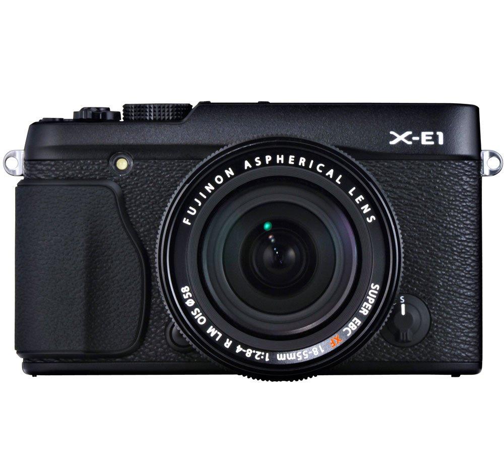 Fujifilm x-e1 16.3 MPコンパクトシステムデジタルカメラwith 2.8-inch lcd-キットwith 18 – 55 mmレンズ  ブラック B0092MD5ZE