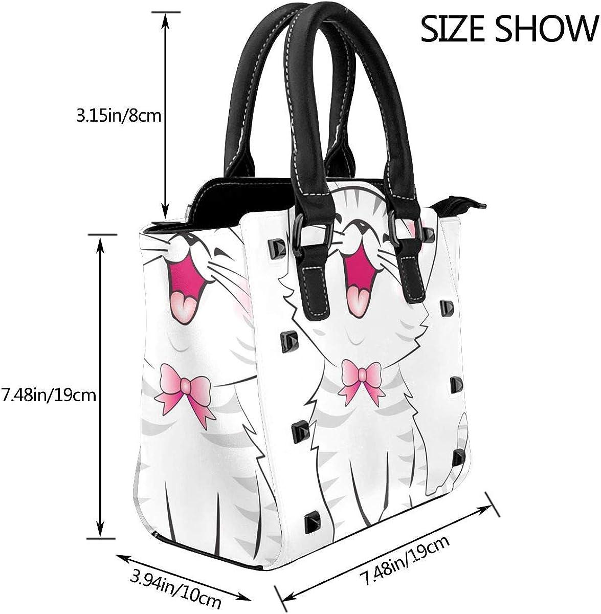 Acchiappasogni indiano donna moda vera pelle rivetto borsa a tracolla ragazze viaggio scuola borsa Gatto Bianco Iaughing