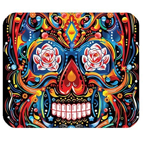 in Colors Image for Rectangle Computer Game Mouse Pad Mat Cloth Cover Non-slip Backing (Mr Super Skeleton)