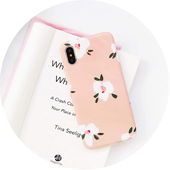Amazon com: for iPhone 8 7 Case Silicone Leaf Flower Phone