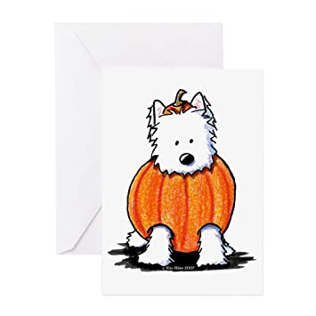 Amazon Cafepress Punkin Westie Greeting Card Note Card