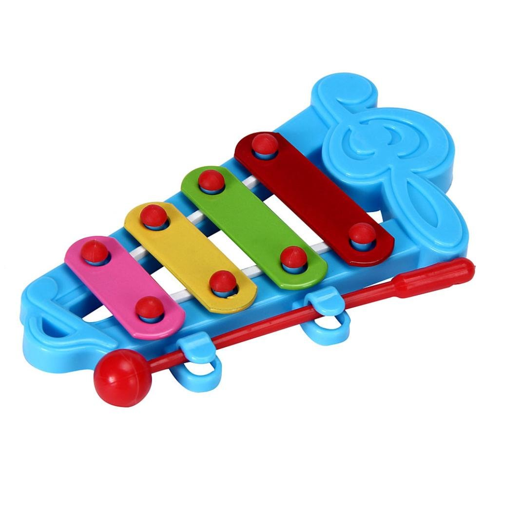 Hands On Musical Instrument Toy, Mamum Baby Kid 4-Note Xylophone Musical Toys Wisdom Development (Blue)