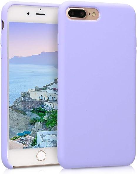 kwmobile Funda Compatible con Apple iPhone 7 Plus Carcasa de Silicona TPU para m/óvil Cover Trasero en Gris Pizarra 8 Plus