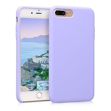 kwmobile Funda compatible con Apple iPhone 7 Plus / 8 Plus - Carcasa de TPU para móvil - Cover trasero en lila