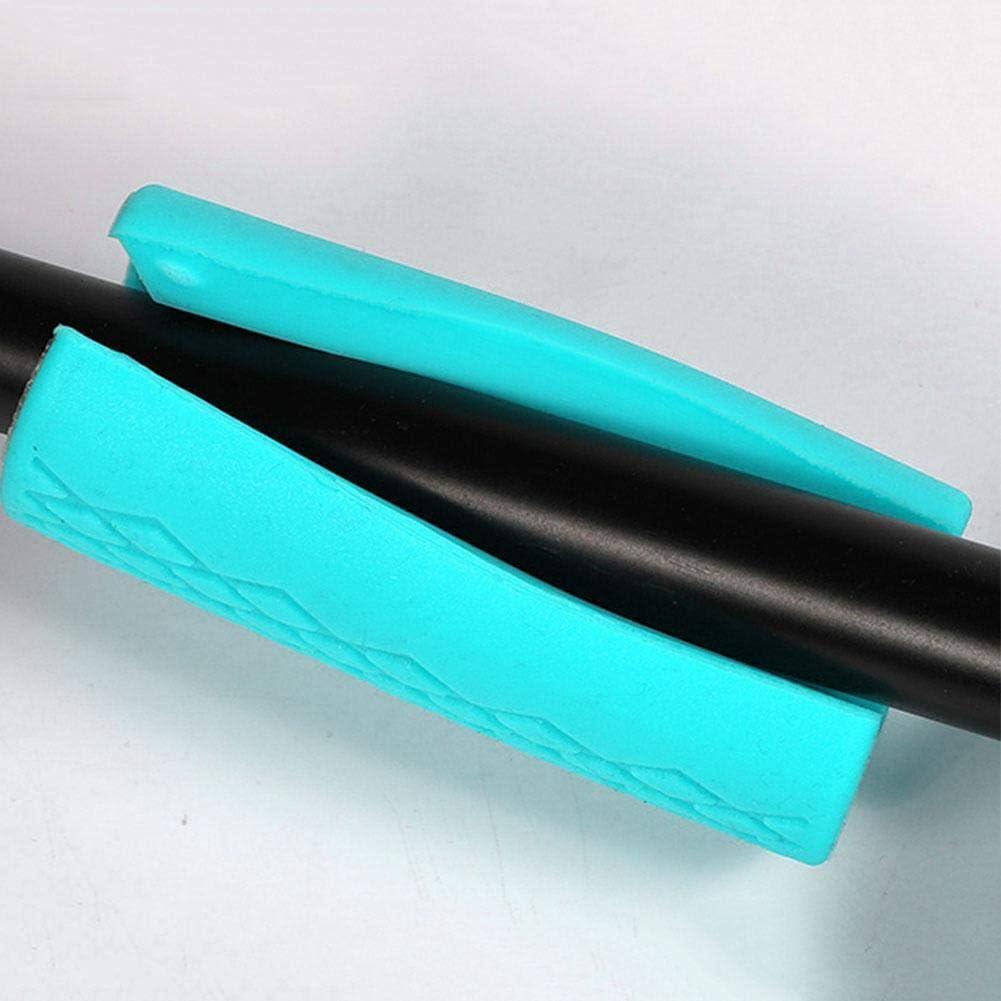 2 Pezzi con manubri per Sollevamento Pesi Bilanciere con manubri Blu Manici a Barra Spessa Proteggi Cuscinetti Manopole con bilanciere Piccolo Sugoyi Manopole con bilanciere