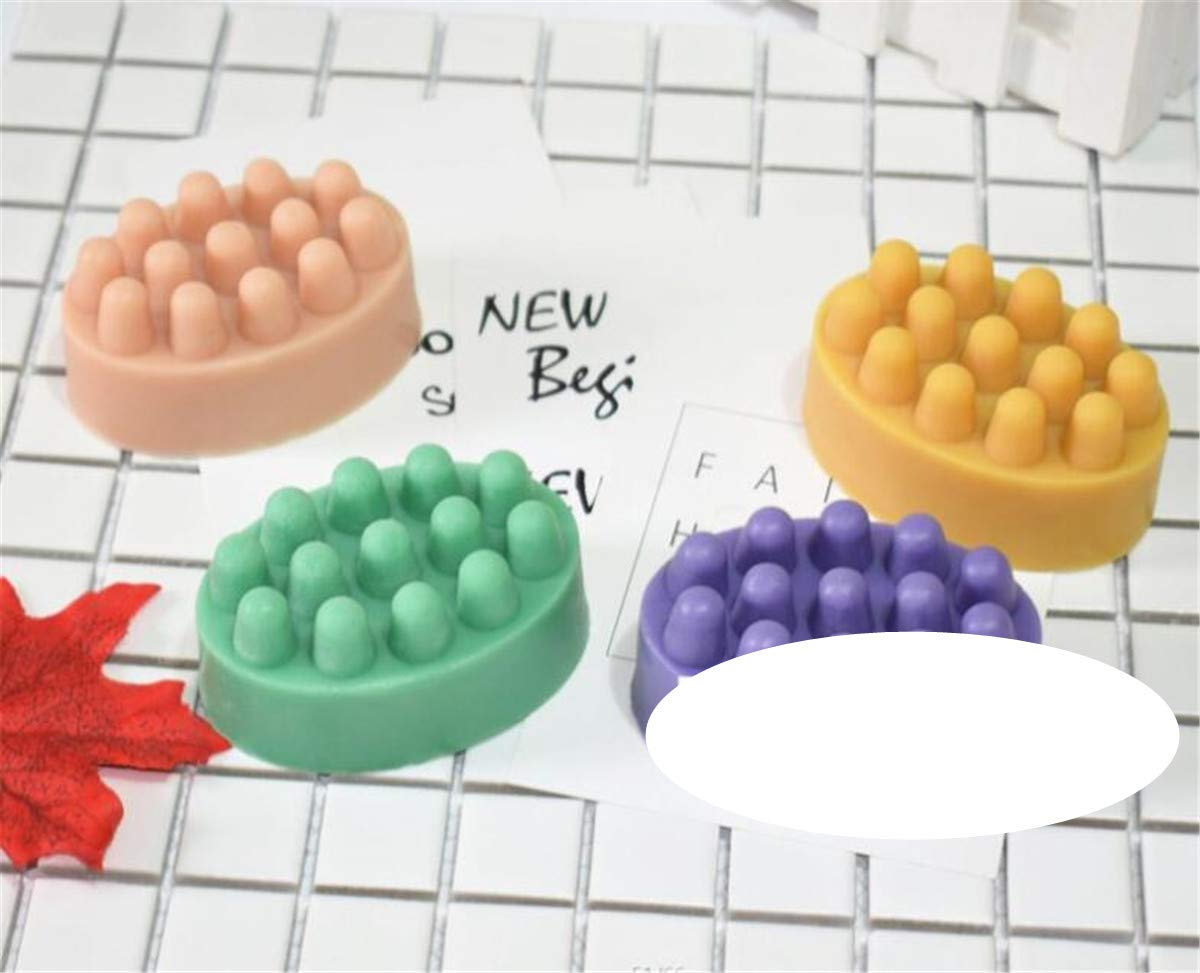 Homieco Silicone Massage Bar Soap Mold Baking Cake Pan Biscuit Chocolate Ice Cube Tray DIY Handmade