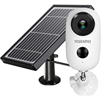 YESKAMO Cámara de Seguridad Inalámbrica 1080P HD con Batería Recargable - Energia Solar Cámara Vigilancia IP WiFi Exterior con Audio Bidireccional y Detección Movimiento (Panel Solar Incluido)