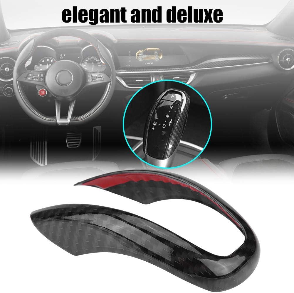 Cuque Car Interior Steering Wheel Decorative Decor Cover Trim for Alfa Romeo Stelvio 2017 2018 Giulia 2016 2017 2018