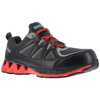 Reebok Men s Leather and Mesh Athletic Oxfords Composite Toe Black ... f169de6159d69