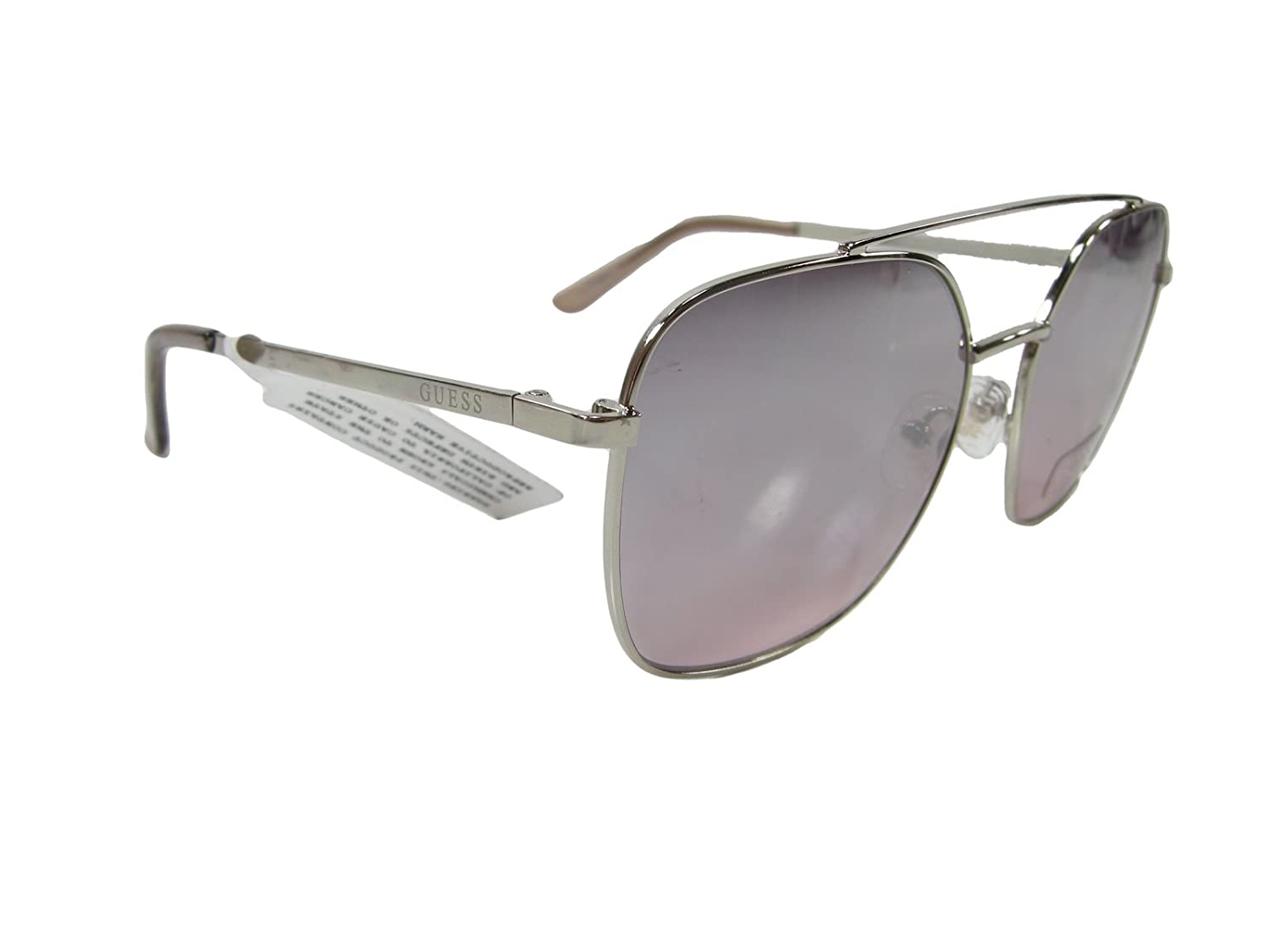6adb217829 Amazon.com  New Guess G Logo Designer Sunglasses Silver Authentic Aviator  Eye Ware  Clothing